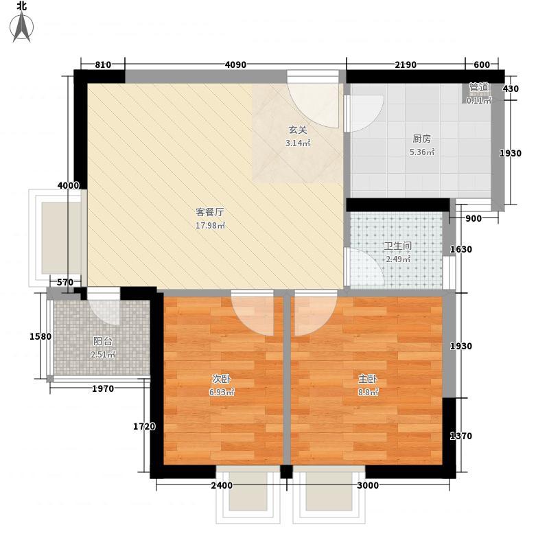 金色海琴苑7户型2室2厅1卫