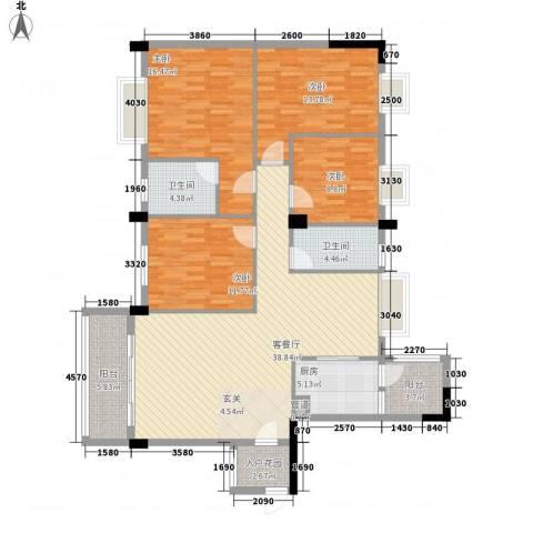 富景花园4室1厅2卫1厨152.00㎡户型图