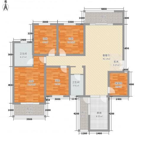 科龙物业4室1厅2卫1厨186.00㎡户型图