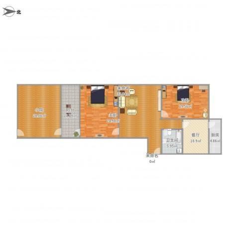 东兴小区2室1厅1卫1厨184.00㎡户型图