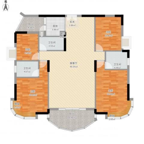 景亿凤凰谷4室1厅3卫1厨177.00㎡户型图