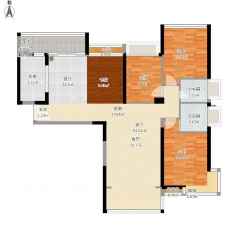太阳湾3室1厅2卫1厨170.00㎡户型图