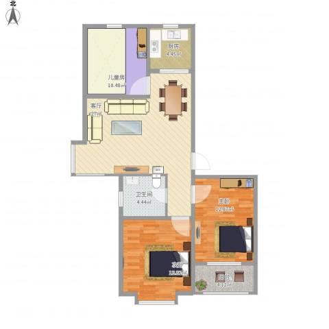 吉祥尚府3室1厅1卫1厨107.00㎡户型图