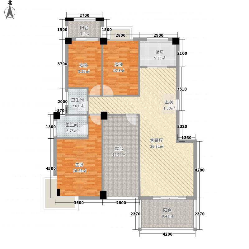阳光翠庭132.00㎡2#楼户型3室2厅2卫