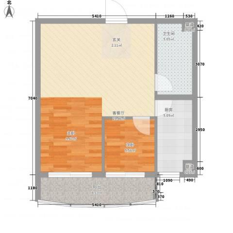 新天地购物城1室1厅1卫1厨73.00㎡户型图