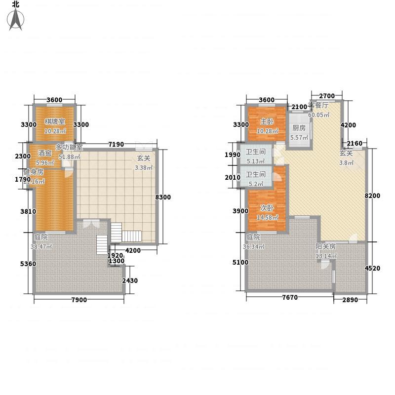 天然艺墅137.13㎡1F户型4室3厅2卫1厨