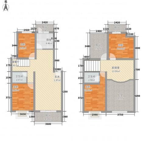金龙花园二期4室1厅2卫1厨174.00㎡户型图