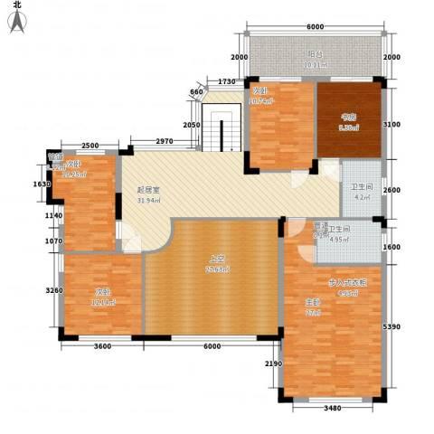 同亨大厦5室0厅2卫0厨206.00㎡户型图