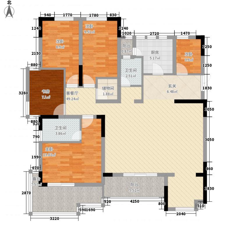 鑫苑世家171.32㎡CL-b户型5室2厅2卫1厨