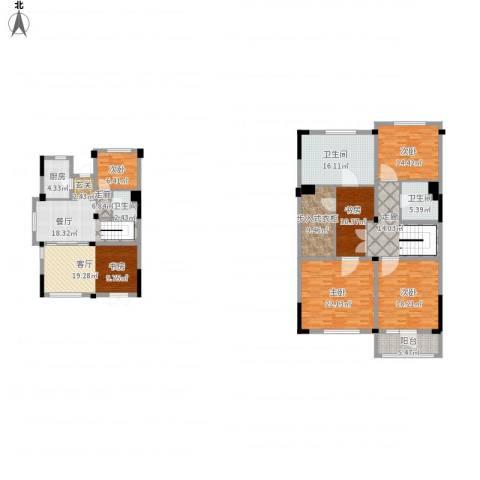 绿城玉兰公馆5室2厅3卫1厨238.00㎡户型图