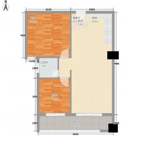 弘林大厦2室1厅1卫0厨71.40㎡户型图