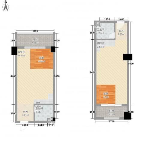 弘林大厦2厅2卫0厨72.87㎡户型图