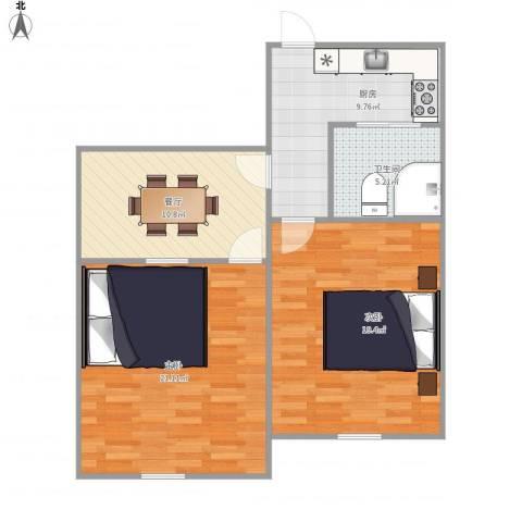 采荷翠柳3-1-3032室1厅1卫1厨89.00㎡户型图