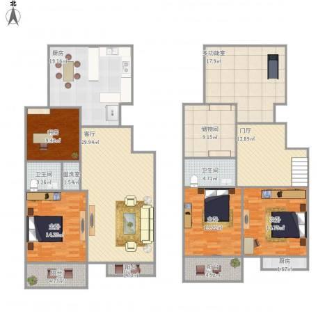 山景御园4室2厅2卫2厨219.00㎡户型图