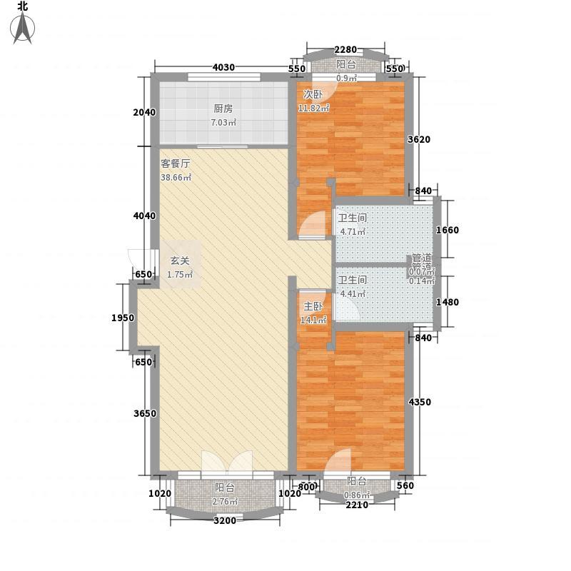鲁信和璧花园标准层中间户A2户型
