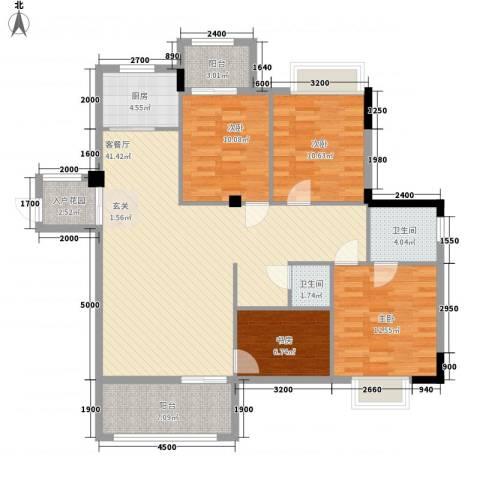 水岸书香4室1厅2卫1厨146.00㎡户型图