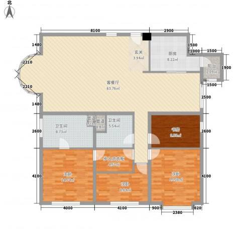 八斗4室1厅2卫1厨141.46㎡户型图
