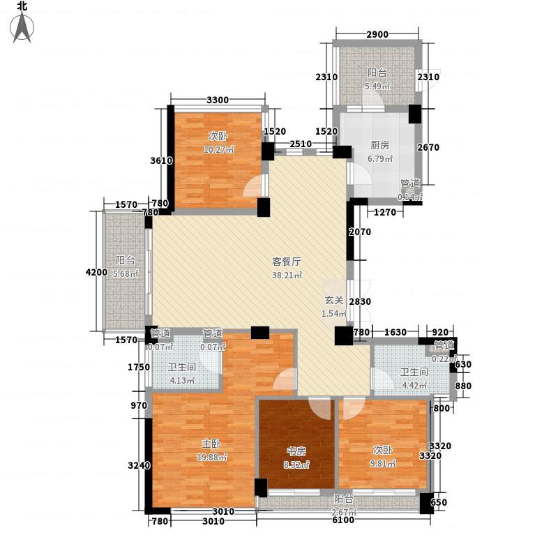 浙铁绿城・玫瑰园158.00㎡G1户型4室2厅2卫1厨