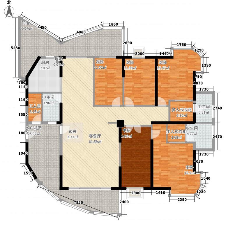 东湖苑238.00㎡户型6室