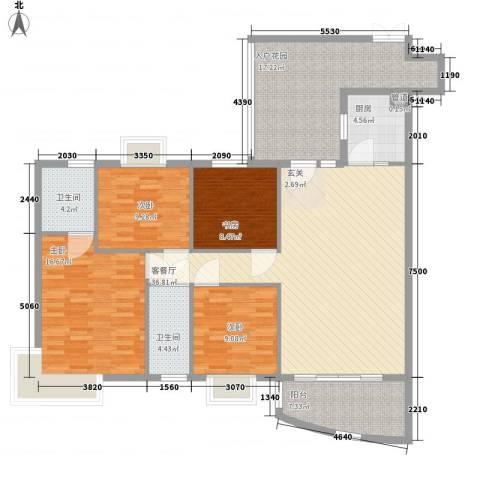 东柳坊4室1厅2卫1厨165.00㎡户型图