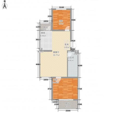 月桂庄园别墅2室1厅1卫0厨93.00㎡户型图
