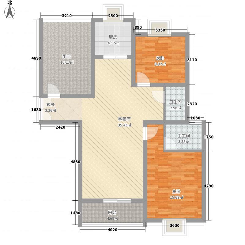正大国贸中心128.00㎡户型3室2厅1卫1厨