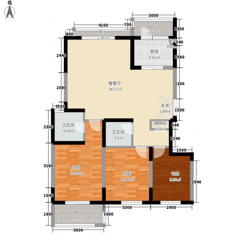 融侨馨苑137.00㎡户型3室