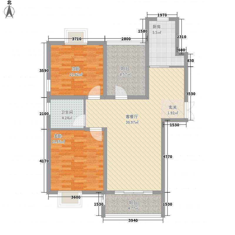 正大国贸中心114.00㎡户型2室2厅2卫1厨