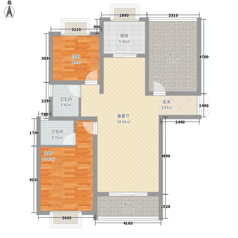 正大国贸中心128.00㎡户型3室2厅2卫1厨