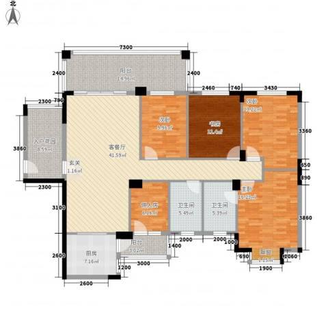金田苑4室1厅2卫1厨143.17㎡户型图
