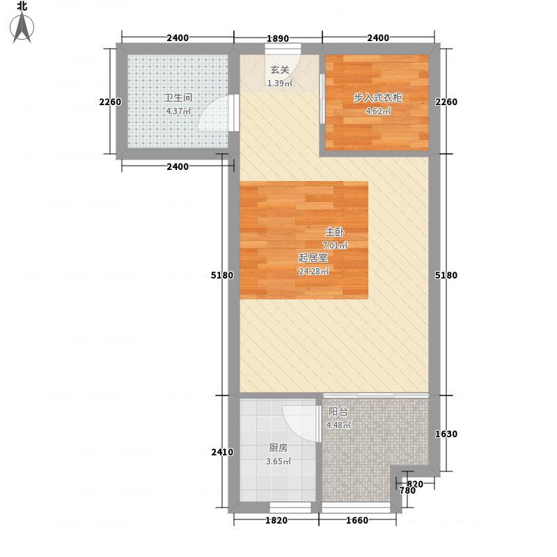 长江一号0室0厅1卫1厨59.00㎡户型图