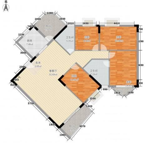 贝月湾4室1厅2卫1厨188.00㎡户型图
