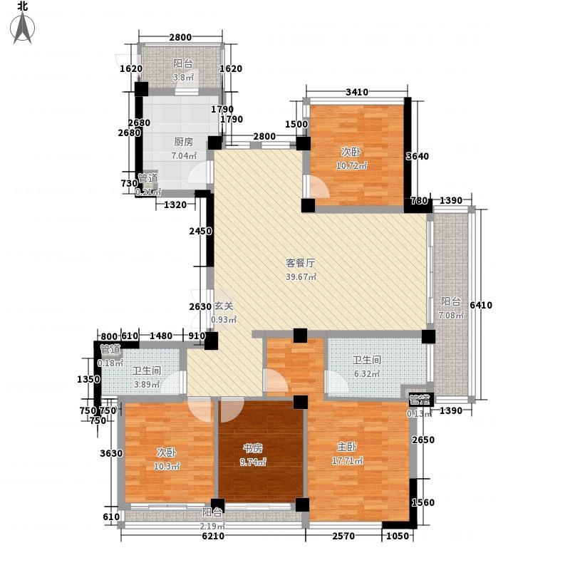 浙铁绿城・玫瑰园165.00㎡G2户型4室2厅2卫1厨