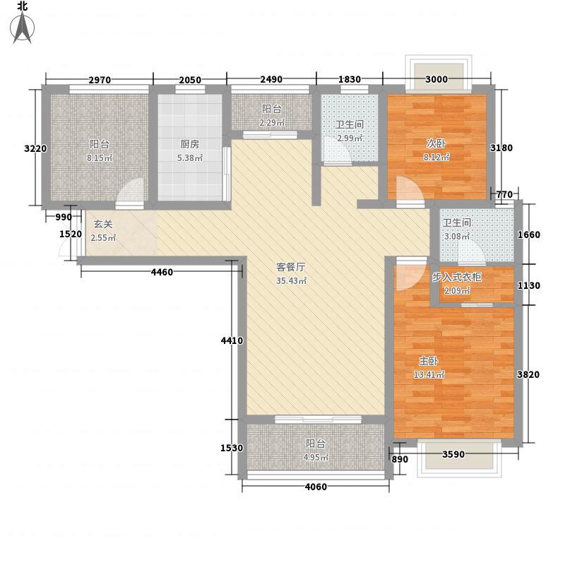 正大国贸中心126.00㎡户型2室2厅2卫1厨