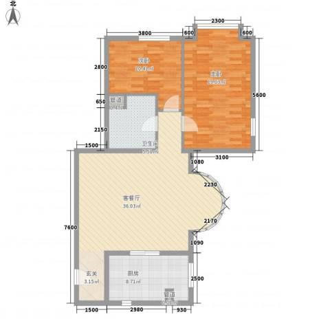 八斗2室1厅1卫1厨80.18㎡户型图