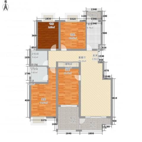 凯铂精品酒店4室1厅2卫1厨123.31㎡户型图