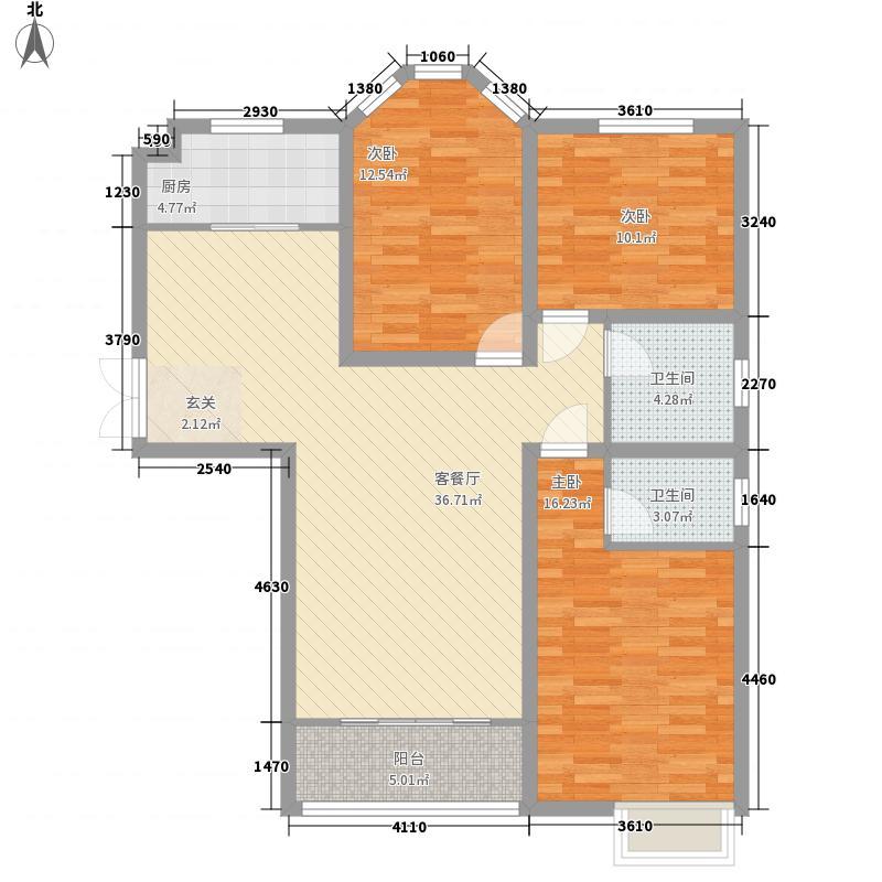 新龙.御景城131.35㎡新龙御景城D5-户型3室2厅2卫1厨