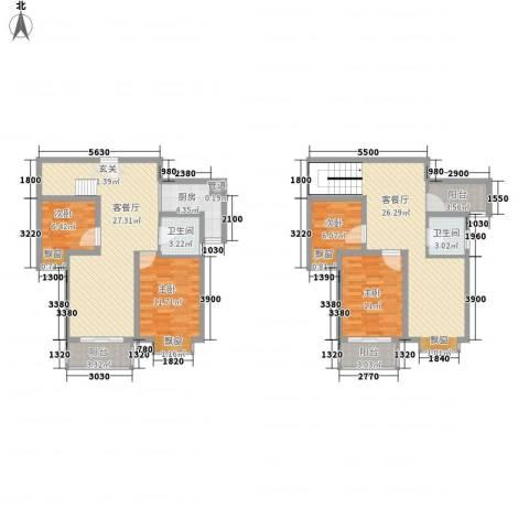 泰和家园4室2厅2卫1厨159.00㎡户型图