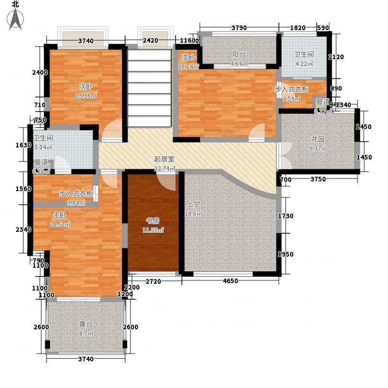 天润碧海湾327.70㎡B栋01复式2F户型7室3厅3卫1厨