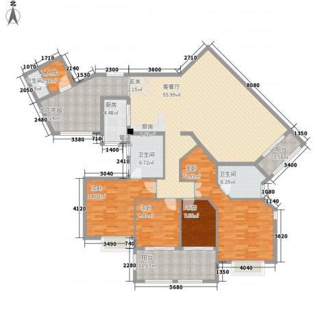 融汇江山4室1厅3卫1厨227.00㎡户型图