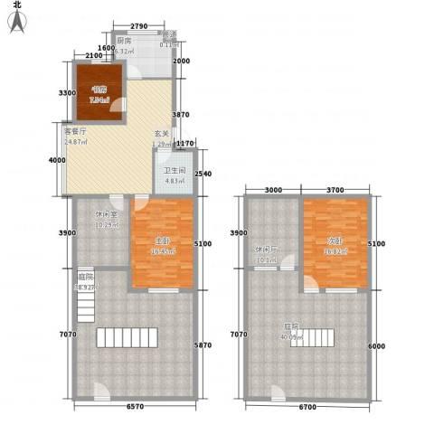 吉祥如意花园3室1厅1卫1厨176.33㎡户型图