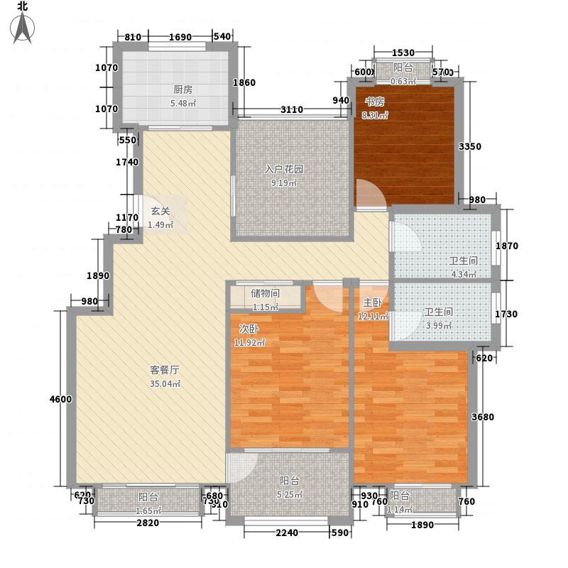 大唐人家138.70㎡电梯公寓C户型3室2厅2卫