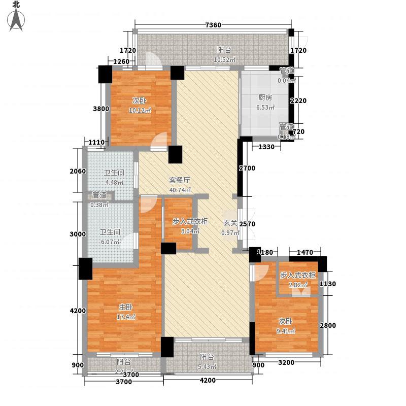 浙铁绿城・玫瑰园156.00㎡J户型3室2厅2卫1厨