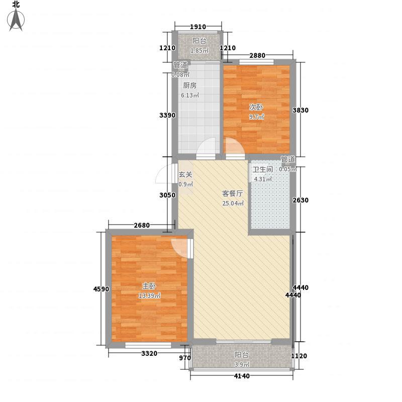 新九州花园户型2室