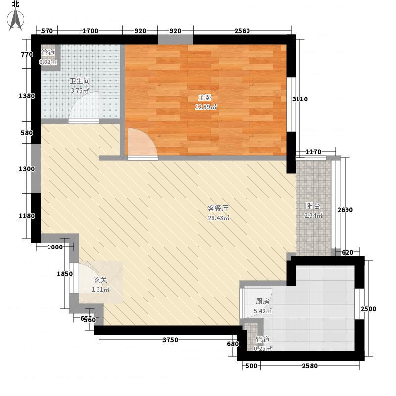 幸福家园69.03㎡10号楼041面积6903m户型