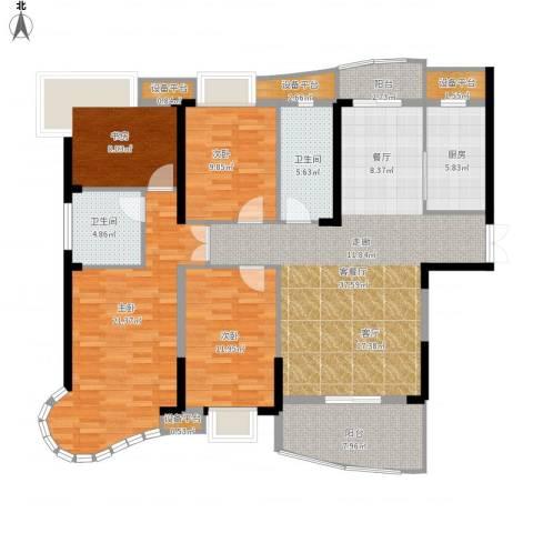 南昌铜锣湾广场4室1厅2卫1厨172.00㎡户型图