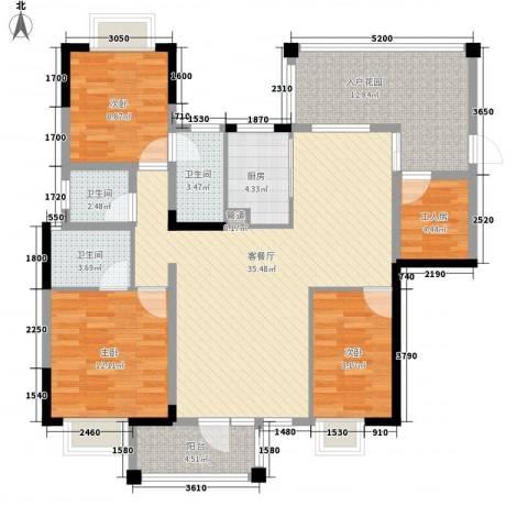 帝豪花园3室1厅3卫1厨145.00㎡户型图