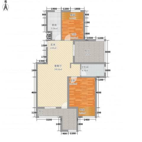 淮北凤凰城2室1厅1卫1厨126.00㎡户型图