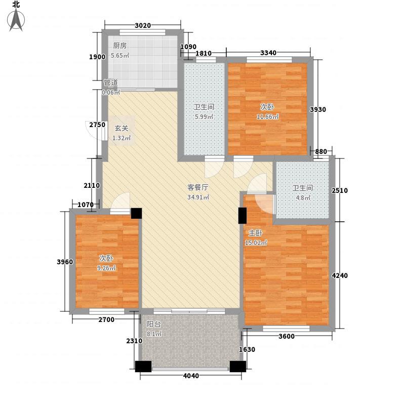 丽景碧雅户型3室