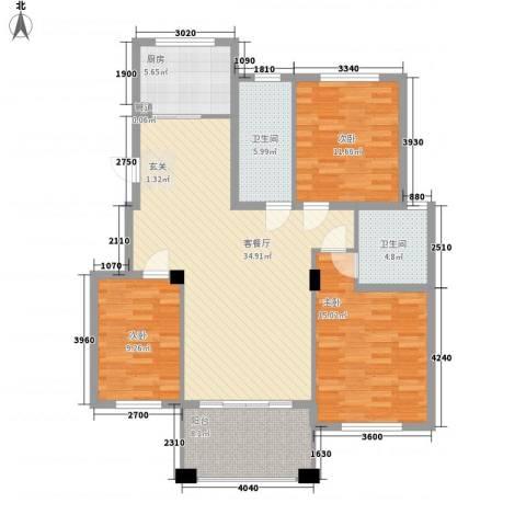 丽景碧雅3室1厅2卫1厨135.00㎡户型图